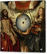 Allegory Of Christianity Oil On Panel Acrylic Print