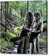 Allen And Steve On Mt. Spokane 2 Acrylic Print