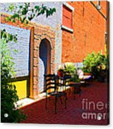 Alley Cafe Acrylic Print