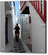 Alley Way In Mykonos Acrylic Print