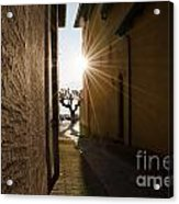 Alley With Sunbeam Acrylic Print