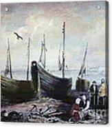 Allonby - Fishing Village 1840s Acrylic Print