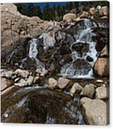 Alluvial Wet Rocks Acrylic Print