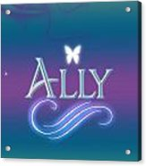 Ally Name Art Hand Towel for Sale by Becca Buecher