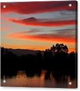 Almaden Sunset Acrylic Print