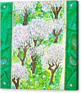 Almond Trees And Leaves Acrylic Print
