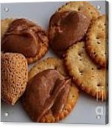Almonds - Almond Butter - Crackers - Food Acrylic Print