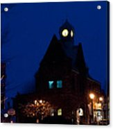 Almonte Ontario At Night Acrylic Print