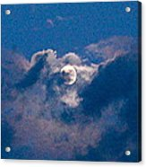 Almost Full Moon Acrylic Print