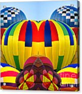 Almost Inflated Hot Air Balloons Mirror Image Acrylic Print