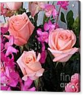 Almost Pink Flowers Acrylic Print