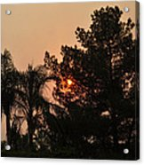 Almosts Gone Now Sunset In Smoky Sky Acrylic Print