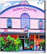 Aloha Theatre Kona Acrylic Print