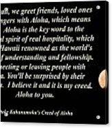 Aloha To You Acrylic Print