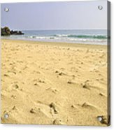 Alone At Bolonia Beach Acrylic Print