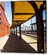 Alone At The Station Acrylic Print