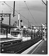 Alone In Railtracks Acrylic Print