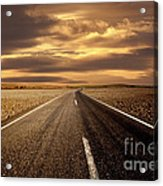 Alone Road Acrylic Print by Boon Mee