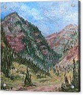 Along South Mineral Creek En Plein Air Acrylic Print