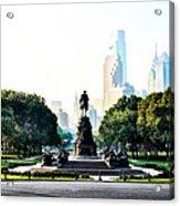 Along The Benjamin Franklin Parkway In Philadelphia Acrylic Print