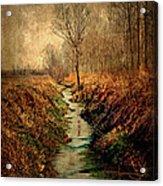 Along The Canal Acrylic Print