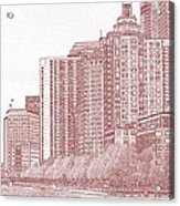 Along The Harbor New York Acrylic Print by Thomas Fouch