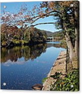 Along The River In Shelbourne Falls Acrylic Print