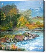 Along The Riverbank Acrylic Print