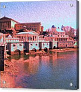 Along The Schuylkill At The Philadelphia Waterworks Acrylic Print