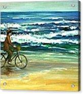 Along The Surf Acrylic Print