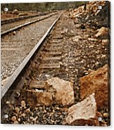 Along The Tracks Acrylic Print