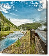 Along The Volcanic Yellowstone Road Acrylic Print