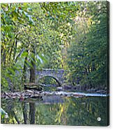 Along The Wissahickon In October Acrylic Print