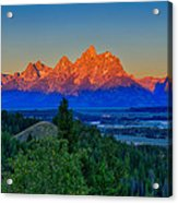 Alpenglow Across The Valley Acrylic Print