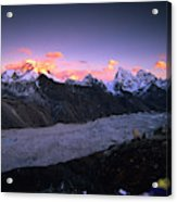Alpenglow Lights The Summit Of Mt Acrylic Print