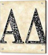 Alpha Delta - Parchment Acrylic Print
