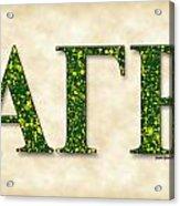 Alpha Gamma Rho - Parchment Acrylic Print