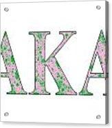 Alpha Kappa Alpha - White Acrylic Print