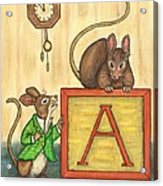 Alphabet Mice Acrylic Print