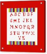 Alphabet Red Acrylic Print