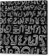 Alphabet Acrylic Print