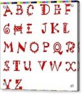 Alphabet With Multicolor Acrylic Print