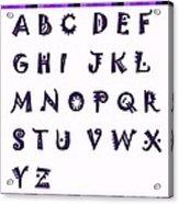 Alphabet With Purple Stripes Acrylic Print
