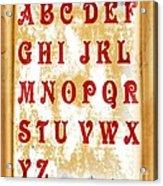 Alphabet With Scroll 2 Acrylic Print
