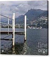 Alpine Lake And A Jetty Acrylic Print