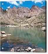 Alpine Lake Beneath Sunlight Peak Acrylic Print