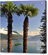 Alpine Lake With Island Acrylic Print