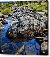 Alpine Stream Beartooth Mounain Range Acrylic Print by Edward Fielding