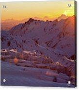 Alpine Sunset On High Alpine Glacier Acrylic Print
