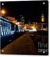 Alpine Village At Night Acrylic Print